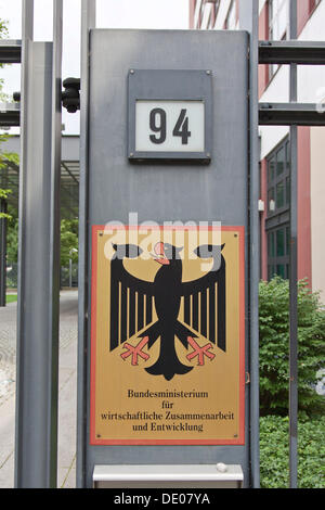 German Federal Ministry for Economic Cooperation and Development, Berlin - Stock Photo