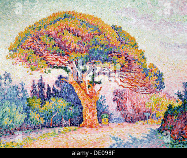 'Le Pin de Bertaud at Saint-Tropez', 1909.  Artist: Paul Signac - Stock Photo