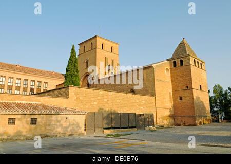 Castle, Parador, Hotel, Castillo de los Calatravos, Alcaniz, Aragon, Spain, Europe, PublicGround - Stock Photo