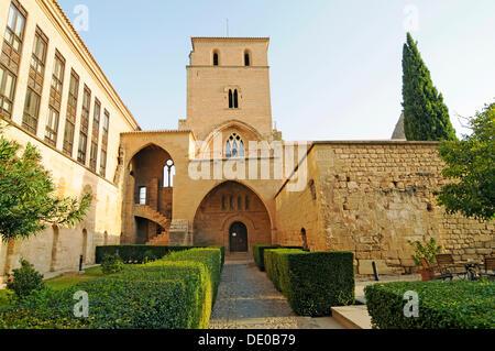 Castle, Parador, Hotel, Castillo de los Calatravos, Alcaniz, Aragon, Spain, Europe - Stock Photo
