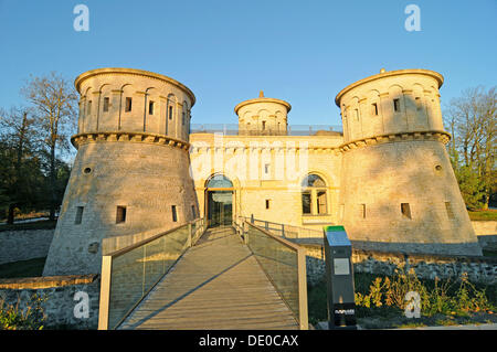 Fort Thuengen, a historic fortress, museum, European Quarter, Kirchberg Plateau, Luxembourg, Europe, PublicGround - Stock Photo