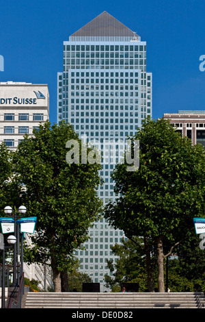 One Canada Square, Canary Wharf, London, England - Stock Photo