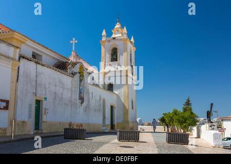 Church of Nossa Senhora da Conceicao, church of Our Lady of Conception, fishing village of Ferragudo, Algarve, Portugal, - Stock Photo