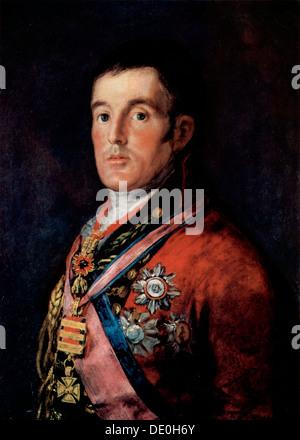 'Portrait of Field Marshal Arthur Wellesley, 1st Duke of Wellington', c1814.  Artist: Francisco Goya - Stock Photo