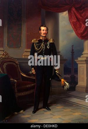 'Portrait of the Crown prince Alexander Nikolayevich', (1818-1881), c1840. Artist: Franz Kruguer - Stock Photo