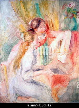 'Young Girls at the Piano', 1892.  Artist: Pierre-Auguste Renoir - Stock Photo