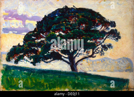 'Large Pine, Saint-Tropez', 1892-1893.  Artist: Paul Signac - Stock Photo