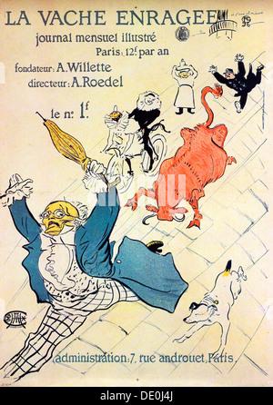 'La Vache enragée, 1896.  Artist: Henri de Toulouse-Lautrec - Stock Photo