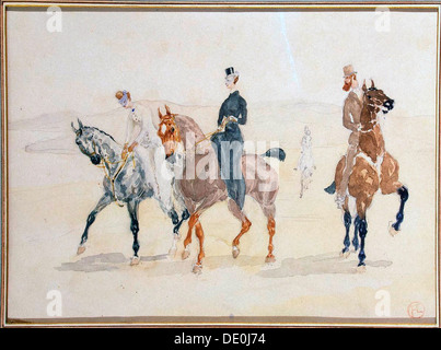 'Riders', 1880s.  Artist: Henri de Toulouse-Lautrec - Stock Photo