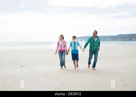 Family on a beach - Stock Photo