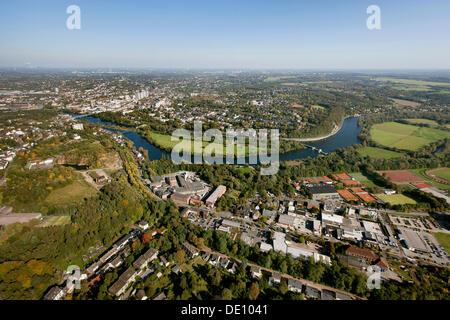 Aerial view, Muelheim an der Ruhr, Ruhr area, North Rhine-Westphalia