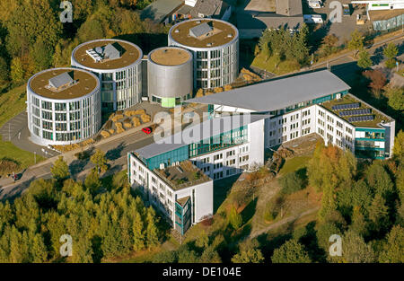 Aerial view, Dental-bioscience research and development center FEZ II, Department of Environmental Engineering and - Stock Photo