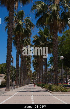 Pedestrian walkway near the harbour, Cartagena Spain - Stock Photo
