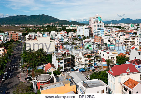 Views across Nha Trang, Vietnam, Southeast Asia, Asia - Stock Photo