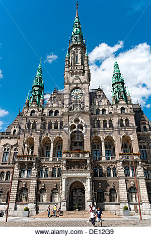 Town hall in Liberec, Czech Republic, Europe - Stock Photo
