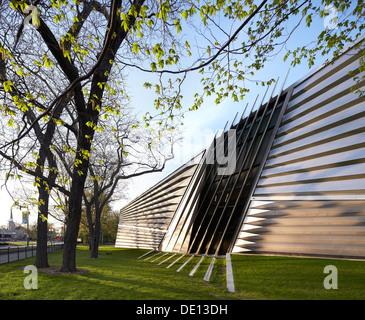 Eli & Edythe Broad Art Museum, Lansing, United States. Architect: Zaha Hadid Architects, 2013. - Stock Photo