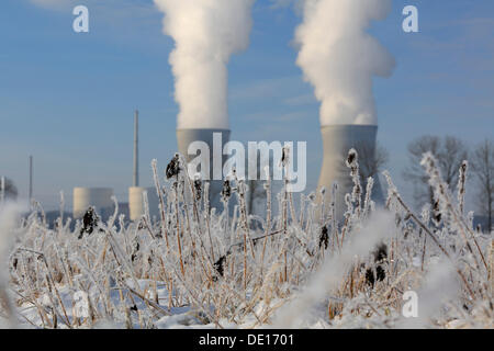 Gundremmingen Nuclear Power Plant, the most powerful atomic power plant in Germany, Gundremmingen near Guenzburg, - Stock Photo