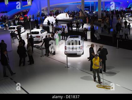 Frankfurt, Germany. 9th Sep, 2013. The Skoda Auto exposition at the 65th IAA International Motor Show in Frankfurt/Main, - Stock Photo