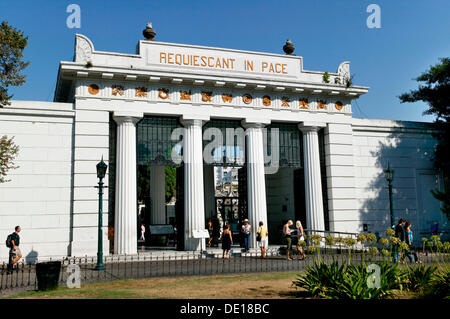 La Recoleta cemetery, Buenos Aires, Argentina, South America - Stock Photo