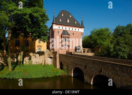 Burgau castle, Dueren, North Rhine-Westphalia, Germany - Stock Photo