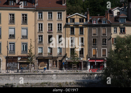 quai perriere grenoble rhone alpes alps france europe stock photo royalty free image 60276861. Black Bedroom Furniture Sets. Home Design Ideas