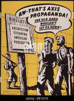 Aw - that's Axis propaganda 5E The old gang wouldn't let us down 5E 535186 - Stock Photo