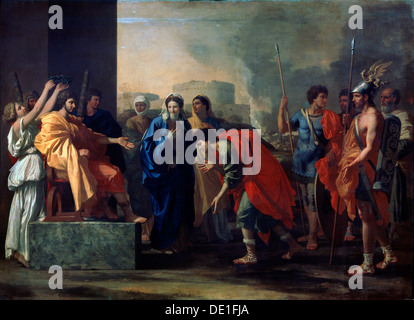 'The Magnanimity of Scipio Africanus', 1640.  Artist: Nicolas Poussin - Stock Photo