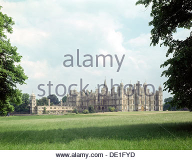 Burghley House, near Stamford, Lincolnshire. Artist: J Litten - Stock Photo