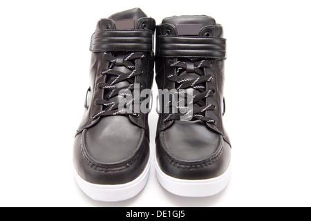 Black men shoes - Stock Photo