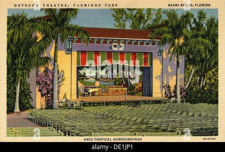 Outdoor Theatre, Flamingo Park, Miami Beach, Florida, USA, 1936. - Stock Photo