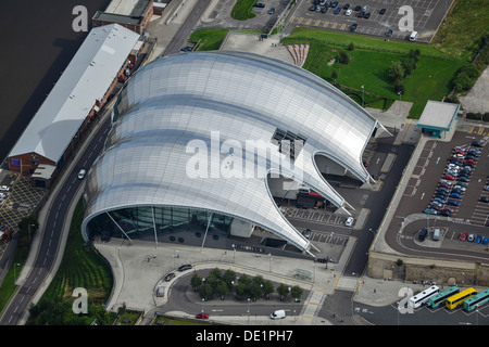 Aerial photograph of The Sage Gateshead - Stock Photo