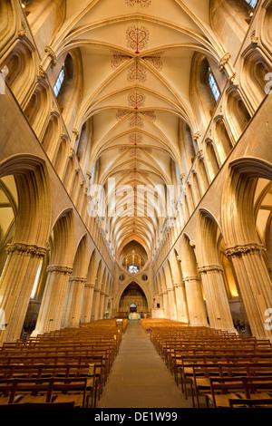 Wells Cathedral Wells Somerset England UK GB EU Europe - Stock Photo