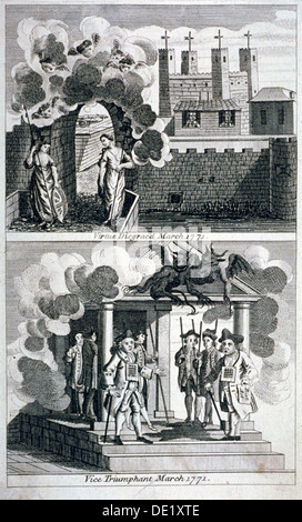 Satire, 1771. Artist: Anon - Stock Photo