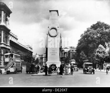 geography / travel, Great Britain, London, monuments, the Cenotaph, Whitehall, monument for the killed of the British - Stock Photo