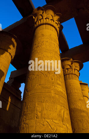 Temple of Haruris and Sobek at Kom Ombo, on the Nile River, Egypt - Stock Photo