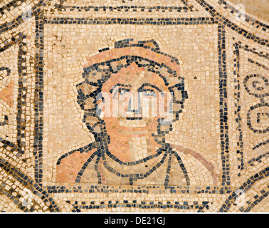 fine arts, ancient world, Roman Empire, Volubilis, Roman city, mosaic with head of Medusa, Morocco, Artist's Copyright - Stock Photo