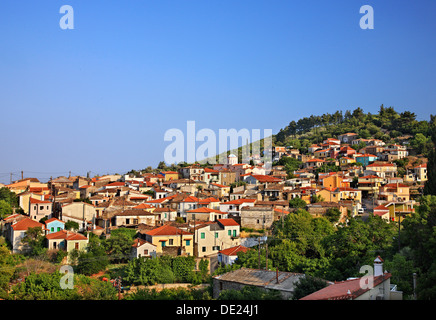 Pyrgos village, one of the most beautiful mountainous villages of Samos island, Greece. - Stock Photo