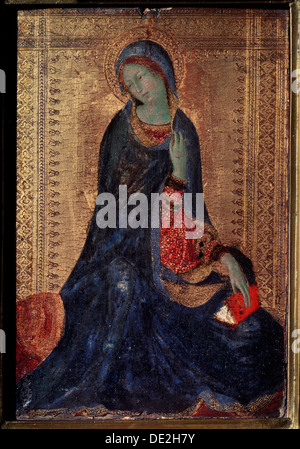 'Virgin Annunciate', c1340-c1344. Artist: Simone Martini - Stock Photo