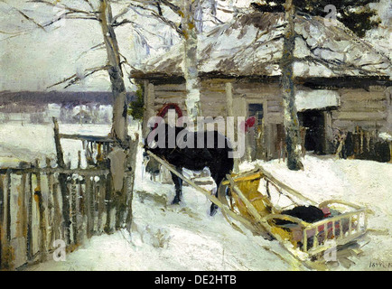 'Winter', 1894.  Artist: Konstantin Korovin - Stock Photo