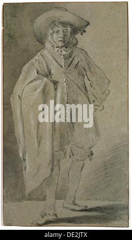 'Self-portrait', 1660s. Artist: Moses ter Borch - Stock Photo