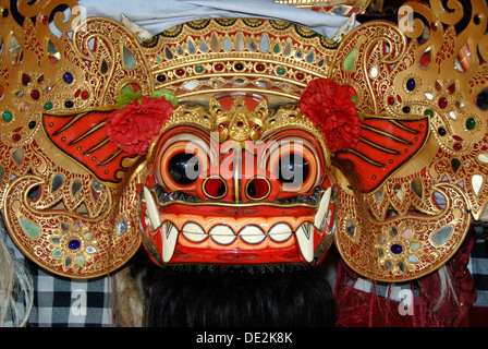 Arts and culture, Barong mask, mystical mythical creature, Ubud, Bali, Indonesia, Southeast Asia, Asia - Stock Photo