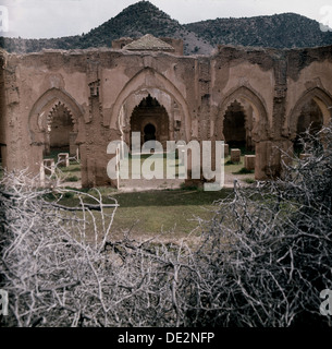 The Tinmel Mosque prior to its 1994 restoration. - Stock Photo