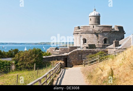 Great Britain, England, Cornwall, St. Mawes Castle, circa 16C, built by Henry VIII - Stock Photo