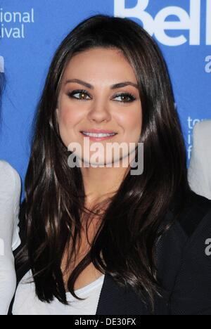 Toronto, Ontario, Canada. 10th Sep, 2013. Mila Kunis at the press conference for THIRD PERSON Photo Call at the - Stock Photo