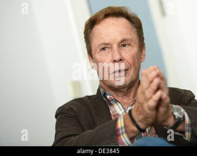 dpa exclusive - German actor and singer Peter Kraus is photographed in Berlin, Germany, 06 September 2013. Photo: - Stock Photo