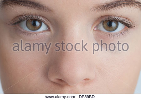 Close up of womanÂ's eyes - Stock Photo
