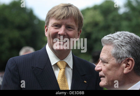 Berlin, Germany, Koenig Willem- Alexander and Federal President Joachim Gauck - Stock Photo