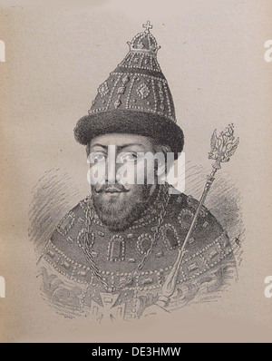 Portrait of the Tsar Michail I Fyodorovich of Russia (1596-1645). Artist: Anonymous - Stock Photo
