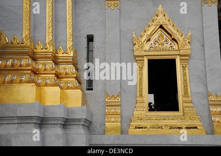 Window of Wat Traimit Temple - Stock Photo