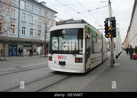 Tram in Wurzburg - Stock Photo